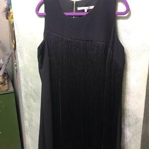 Rachel Roy mid length fringe black dress